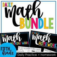 Looking for a daily spiral math review along with some purposeful math homework? This bundle is the perfect combination of daily practice and home-school collaboration. The Daily Math Spiral contains five problems per