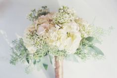 Soft white and pink bouquet