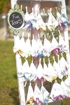 Vintage hankies for the wedding ceremony