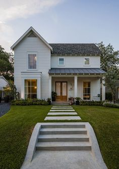 Modern farmhouse with simple, classic exterior shape.