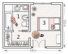 Master Walk In Closet Layout Design Bedrooms 38 Ideas Master Bedroom Plans, Master Bedroom Layout, Bedroom Floor Plans, Master Room, Bedroom Layouts, Bathroom Layout, Master Bathroom, Master Closet, Bathroom Ideas