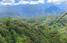 kauai backcountry adventure zipline - longest was 940ft, almost 300 ft above ground.