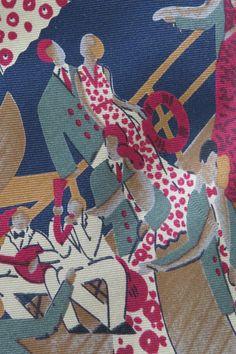 Vintage Art Deco Necktie Tie by Harolds  Silk  by shabbyshopgirls