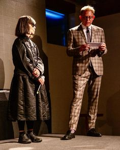 on gala last night honoring It's rare to see Rei Kawakubo in person, let alone hear… Rei Kawakubo, Comme Des Garcons, Last Night, Vogue, Hipster, Let It Be, Instagram, Style, Fashion
