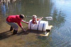 D.I.Y. Barrel Boat