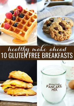 Make-ahead gluten free breakfast ideas are a very valuable commodity. Here are 10 ideas for healthy, make-ahead breakfasts that your whole family will love!