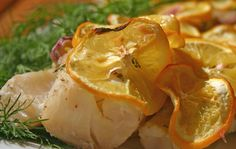 Baked fish with Meyer lemon. Only takes 30 minutes! For Phase 2 of the #FastMetabolismDiet
