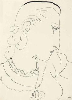 Henri Matisse (1869-1954) Tête de profil