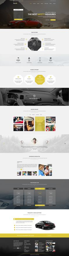 DriveOn - Driving School PSD Template #psd #motor #automobile • Download ➝ https://themeforest.net/item/driveon-driving-school-psd-template/18681326?ref=pxcr
