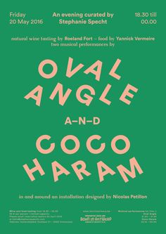 Oval Angle and Coco Haram poster