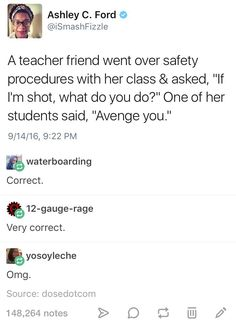 Yassss u student . Avenge her like she's never been avenged before (which she probably hasn't).