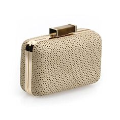 Unique Clutch Bags Bmc Womens Desert Tan Khaki Pu Faux Leather Wred Perforated Pattern Padded Hardcase S Fashion