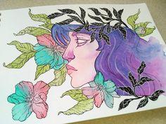 #watercolor #brush #paper #art #myart #illustration  #painting #paint #akwarele #polishboy #artist #artwork #lineart #flowers #girl #beautiful #feelings #artstagram #instadaily #instagood #like #nice #holiday #ink #galaxy