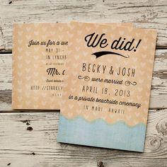Beach Wedding Announcement Wedding Announcements by starboardpress