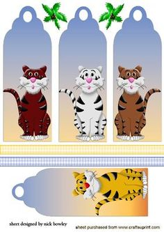 TIGER BOOKMARKS on Craftsuprint - Add To Basket!