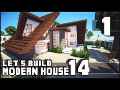 Minecraft Lets Build Modern House 14