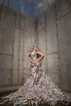 "Couture Avant Garde Newspaper Gown""Earth provides enough to satisfy every man's needs, but not every man's greed."" ― Mahatma Gandhi"