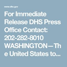 For Immediate Release DHS Press Office Contact: 202-282-8010  WASHINGTON—The United States today began implementing changes under the Visa Waiver Program Improvement and Terrorist Travel Prevention Act of 2015 (the Act). U.S. Customs and Border Protection (CBP) welcomes more than a million passengers arriving to the United States every day and is committed to facilitating legitimate travel while maintaining the highest standards of security and border protection. Under the Act, travelers in…