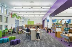 Cornelius Innovation Lab, featuring our Color Field collection. Design by OfficeEnvironments. Photography courtesy of Belk.