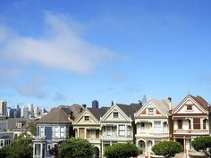 View of the Painted Ladies in San Francisco, California.