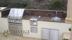 Outdoor granite BBQ kitchen.