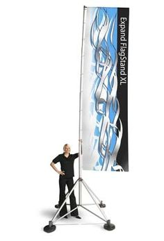 Super Cool Outdoor Flag Advertising Flag! Looks like it's made for the Moon!