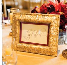 Each table was named after a special place for the couple.