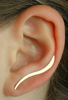 """Vague lisse boucle d'oreille Pin - 1 1/4""""- côté simple ou paire - or rempli (jaune ou Rose) ou en argent Sterling"""