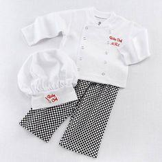 Baby Boy Girl Cook Chef Halloween Fancy Costume Outfits Top Pants Hat Set 6-24M | Baby & Toddlers' Fancy Dress | Fancy Dress - Zeppy.io