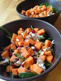 Sweet Potato Pomegranate Salad