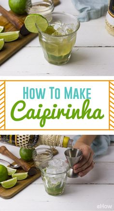 A Caipirinha is Brazil's national cocktail. It's made with fresh limes and a bit of sugar, but what makes this drink really special is the addition of cachaça, a spirit made from distilled sugarcane juice. This drink is bright and refreshing, making it the perfect cocktail to enjoy on a warm day.  http://www.ehow.com/how_2001322_make-caipirinha-traditional-brazilian-drink.html?utm_source=pinterest.com&utm_medium=referral&utm_content=freestyle&utm_campaign=fanpage