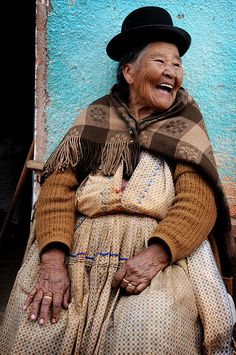 Smiling local - Macha, Bolivia