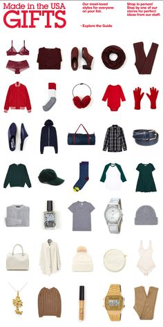 American Apparel Gift Guide newsletter