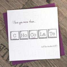 Father's Day Periodic Table Birthday Fun by ThePaperScientist Vatertags-Periodensystem-Geburtstags-Spaß durch ThePaperScientist Bday Cards, Funny Birthday Cards, Diy Birthday, Card Birthday, Karten Diy, Funny Anniversary Cards, Father's Day Diy, Square Card, Fathers Day Cards