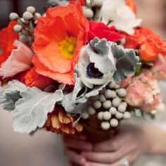 Orange Wedding Details.  Just the right pop of color.