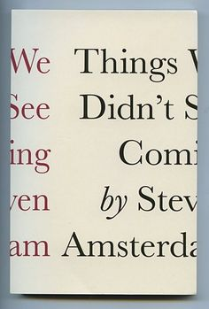 Things We Didn't See Coming, book cover