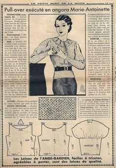 Le Petit Écho de la Mode - 25 avril 1937 http://isabellurette.tumblr.com/archive