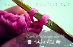 LUNAdei creativi | Scuola di Uncinetto (Lezione 4): Maglia Alta | http://lunadeicreativi.com