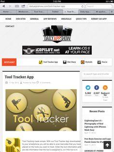 Tool Tracker App on the Daily App Show http://tooltrackerapp.com/