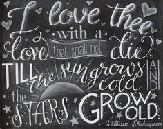 Chalkboard PRINT Shakespeare  Shakespeare von ColorandDustStudios
