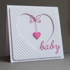 CAS Baby Card. ---CantStopCrafting.  Would be cute for Valentine's.