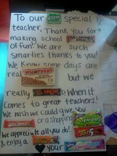Going away card for our teacher.