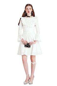 YIGELILA Retro Flounced Long Sleeve Cotton Without Dress ... http://a.co/9WpfRH5
