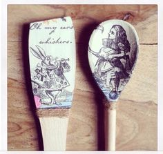 Alice in Wonderland Decorative Spoon and by WittonandParker