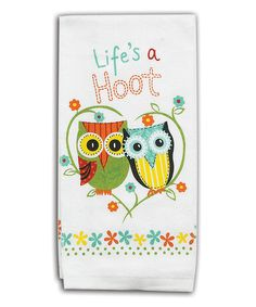 Cute owl kitchen towels/accessories, as well as fun spring colors (orange, lime, turquoise, and pink!)