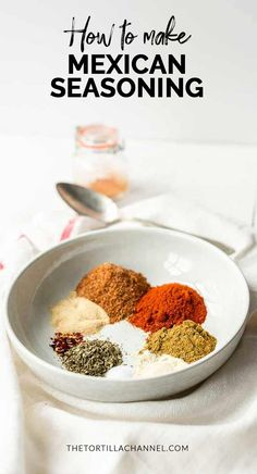 Mexican seasoning is your go to spice blend that you can use in your Mexican recipes like tacos, burritos, enchiladas or fajitas. It also tastes great with veggies, meats or homemade tortilla chips. Homemade Dry Mixes, Homemade Spices, Homemade Seasonings, Mexican Seasoning, Seasoning Mixes, Homemade Tortilla Chips, Homemade Tortillas, Spice Blends, Rice