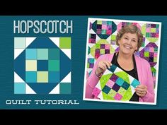 """Make a """"Hopscotch"""" Quilt with Jenny Doan of Missouri Star (Video Tutorial) Msqc Tutorials, Quilting Tutorials, Quilting Ideas, Quilting Projects, Hans Moser, Missouri Star Quilt Tutorials, Jellyroll Quilts, Scraps Quilt, Quilting Classes"""