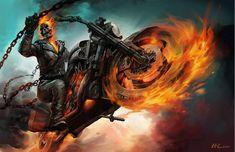 Ghost Rider Spirit of Vengeance by JSMarantz on DeviantArt Angel Of Vengeance, Spirit Of Vengeance, Ghost Rider 2, Ghost Rider Marvel, Marvel Art, Marvel Comics, Marvel Heroes, Ms Marvel, Captain Marvel
