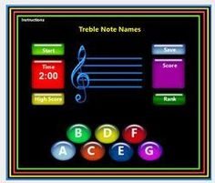 Free Treble Clef lines and spaces online game