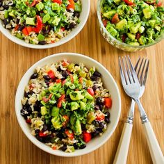 Slow Cooker Vegetarian Brown Rice Mexican Bowl